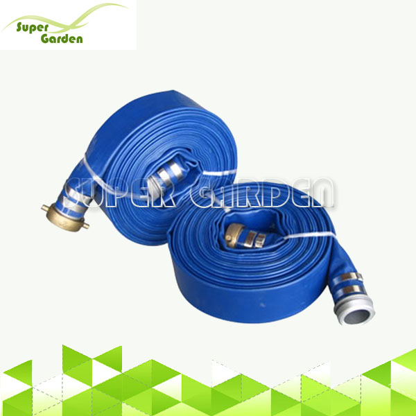 High pressure PVC lay flat hose with camlock coupling