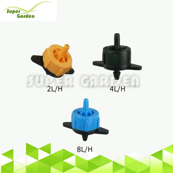Farm drip irrigation system Pressure compensated dripper water emitter cylinder water dripper