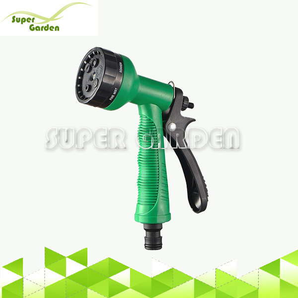 Plastic garden hose water 6 pattern spray nozzle for irrigation house cleaning