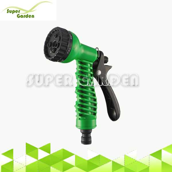 High pressure sprayer spray gun nozzle 6 function high pressure plastic garden hose nozzle