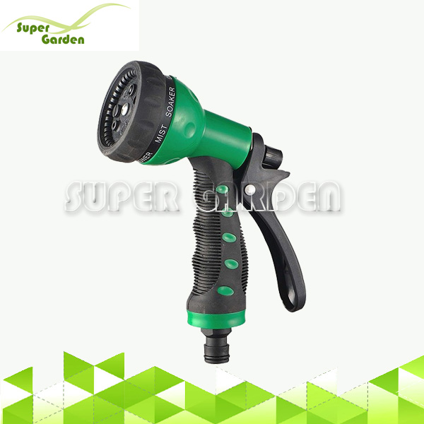 High Pressure Plastic Garden Water Hose Spray Nozzle for Magic Expandaing Hose and Home Washing Foam Flow Water