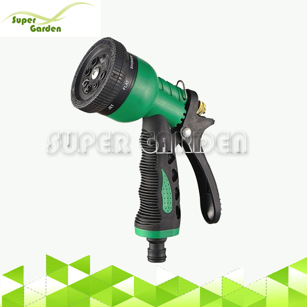 High quality ABS garden flexible hose spray nozzle garden water guns