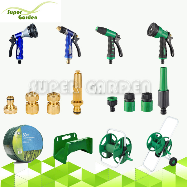 Different kinds of garden water tools for irrigation system