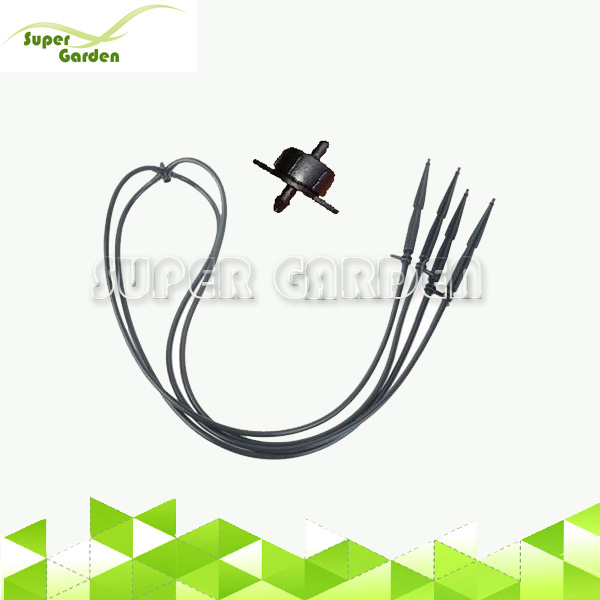 Garden irrigation system straight dripper arrow straight drip stake