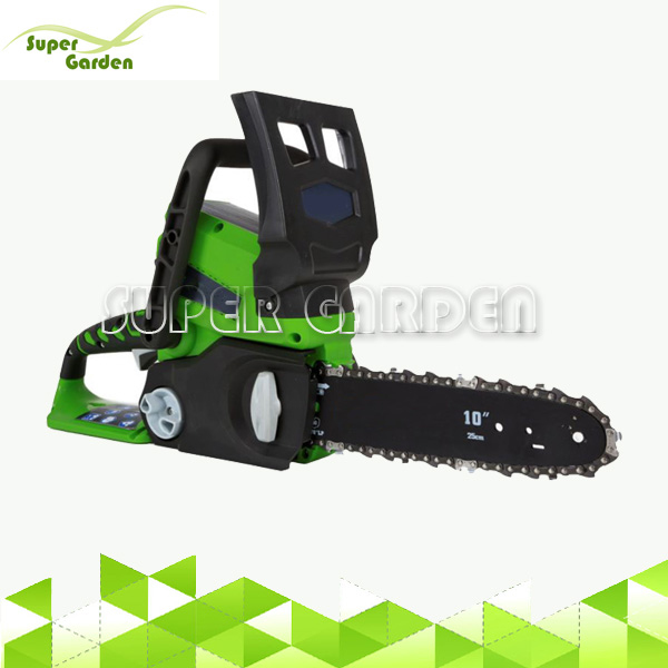 Cordless garden tool 24V Li-ion battery chain saw