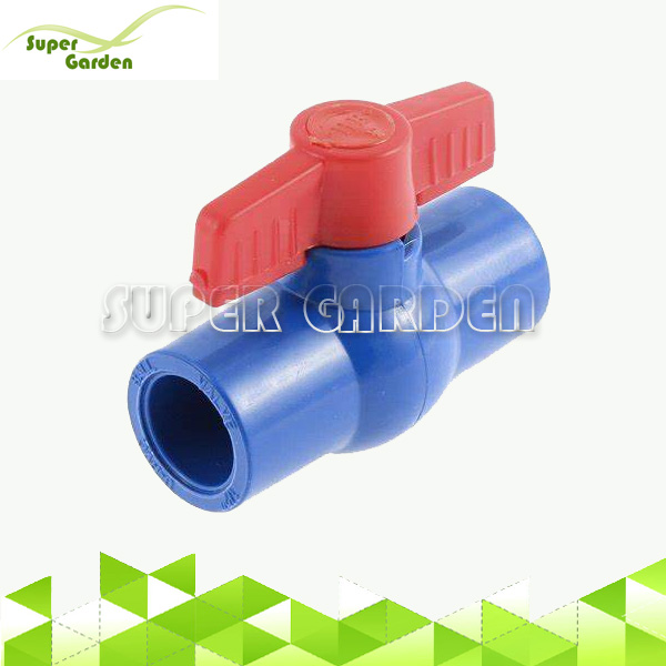 Farm irrigation water supply system plastic Blue PVC compact ball valve