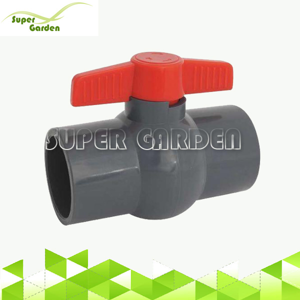 Good Quality Grey PVC Water Compact Ball Valve for Agriculture Irrigation