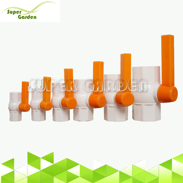 PVC One-way Handle Octagonal Water Valve For Farm Water Supply System