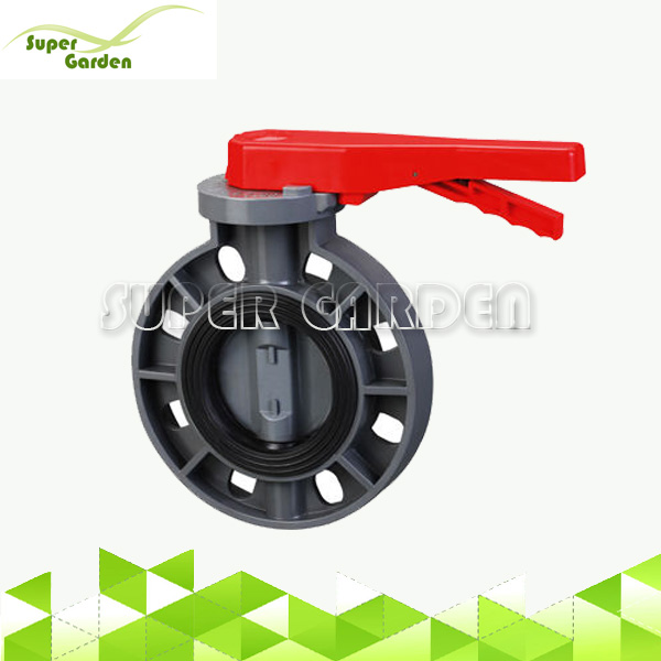 Water Treatment Pipe system PVC wafer butterfly valve