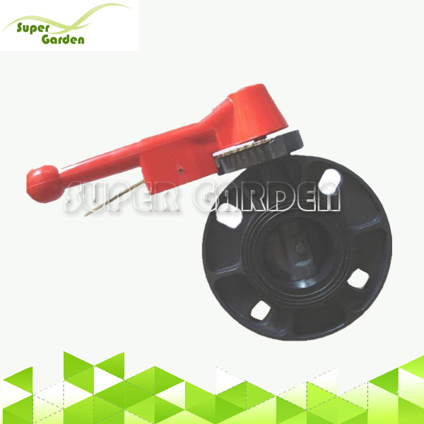 PVC Butterfly valve with iron handle butterfly valve pvc for supply irrigation