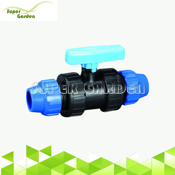 Agriculture Irrigation pp compression double union ball valve