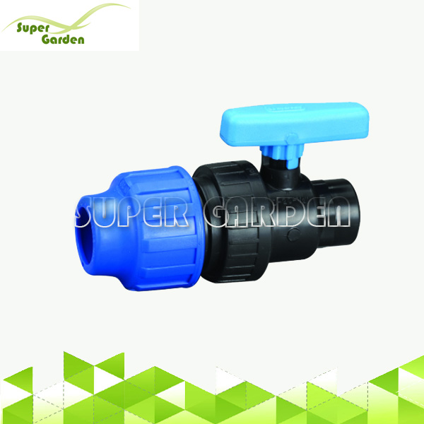 Agricultural HDPE Pipe PP Single True Union Compression Female Thread Ball Valve