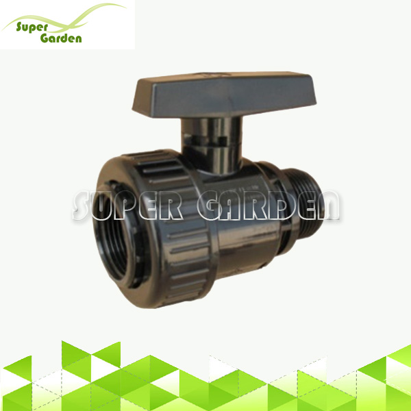 PVC single union male thread ball valve for water supply system