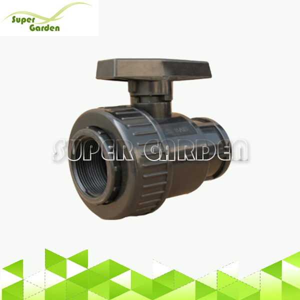 Agriculture water irrigation system PVC single union female thread ball valve